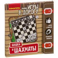 """Компактные развивающие игры в дорогу """"Шашки и шахматы"""""""