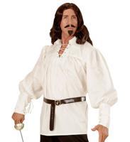 """Рубашка """"Фехтовальщика"""", белая, размер: M-L"""