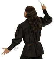 """Рубашка """"Фехтовальщика"""", чёрная, размер: M-L"""
