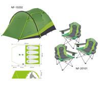 "Комплект Norfin: палатка 4-х местная ""RUDD 3+1 NF"" + 3 складных кресла RAUMA ""NF-20101"""