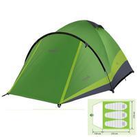 "Комплект Norfin: палатка трехместная ""Perch 3 NF"" + 2 спальных мешка-одеяла ""Scandic"""