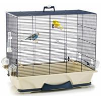 "Клетка для птиц Savic ""Primo 50"", с комплектацией (цвет: синий), 65x38x56,5 см"