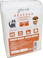 """Пеленки одноразовые для животных """"Glory Life"""", c суперабсорбентом и липким фиксирующим слоем (цвет: белый), 60x40 см, 5 штук"""