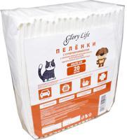 """Пеленки одноразовые для животных """"Glory Life"""", c суперабсорбентом и липким фиксирующим слоем (цвет: белый), 60x90 см, 20 штук"""