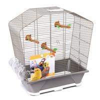"Клетка для птиц Savic ""Camille 30"", цвет: бежевый, 45x25x48 см"