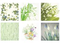 "Набор бумажных салфеток для декупажа Love2art ""Элегантная весна"", 6 штук, 33x33 см, арт. SDS №65"