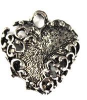 """Подвеска металлическая """"Сердце"""", цвет: серебро состаренное, 15x19 мм, 5 штук, арт. H0800"""