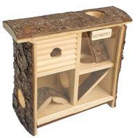 """Домик - лабиринт для мелких грызунов """"Homepet"""", деревянный, 10x24x25 см"""