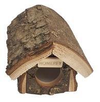 """Домик для мелких грызунов Homepet """"Избушка"""", деревянный, 16x12x10,5 см"""