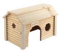 """Домик для крупных грызунов Homepet """"Усадьба"""", деревянный, 19x31x18,5 см"""