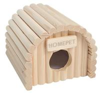 """Домик для мелких грызунов Homepet """"Ракушка"""", деревянный, 12,5x13x10,5 см"""