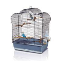 """Клетка для птиц Imac """"Zoe"""", 61x38x75 см, чёрная, пепельно-синий"""