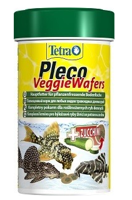 """Корм для травоядных донных рыб c добавлением цуккини """"Tetra Pleco Veggie Wafer"""", 100 мл"""