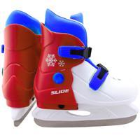 """Коньки ледовые раздвижные """"Larsen. Slide RED"""", размер: M (33-36)"""
