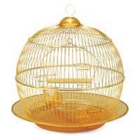 "Клетка для птиц Triol ""350G"", круглая (золото), 35x33 см"