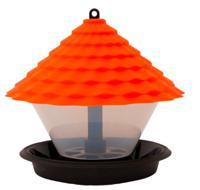 Кормушка для птиц, оранжевая