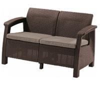 "Диван садовый ""Corfu II Love Seat"", коричневый"