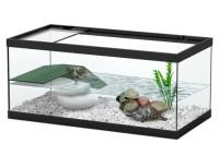 """Аква-террариум для черепах """"Tortum 40"""", чёрный (001), 40х20x18 см (светильник отдельно)"""