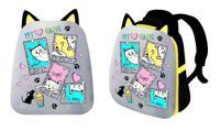 """Рюкзак каркасный """"Коты в рамке"""", 2 отделения, 37x31,5x17 см"""