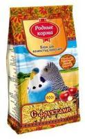 """Корм для волнистых попугаев """"Родные корма"""" с фруктами, 900 г"""