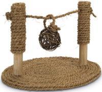 """Игрушка для грызунов Beeztees """"Турник из кокосовой веревки с мячиком"""", 19х24х16,5 см"""