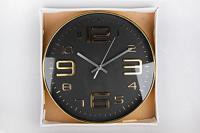 Часы настенные, 30 см, цвет: черный