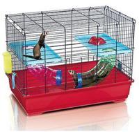 """Клетка для хорьков Imac """"Ferret Flat"""", 80x48,5x60,5 см, красный"""