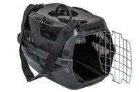 """Переноска для животных ZooM """"Спутник-2"""", с металлической дверцей и наплечным ремнем (цвет: черный), 33x49x32 см"""