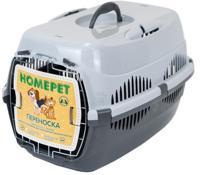 "Переноска для животных ""Homepet"", с металлической дверцей (цвет: серый), 49х33х32 см"