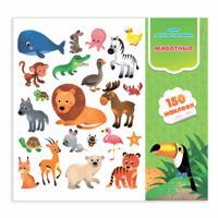 """Весёлые наклейки """"Животные"""", 150 наклеек"""