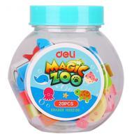 "Набор ластиков Deli ""Magic Zoo"", ассорти, 20 штук, арт. EH03206"