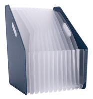 """Лоток для бумаг вертикальный """"Deli"""", цвет: темно-синий, A4 , арт. 63952DK-BLUE"""