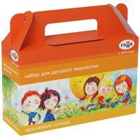 """Комплект наборов для детского творчества """"Оранжевое солнце"""", 3 предмета (4 набора в комплекте) (количество товаров в комплекте: 4)"""