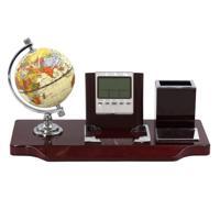 Настольный набор (часы, глобус, карандашница, магнит для скрепок)