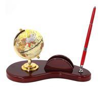 Настольный набор (глобус, ручка, держатель для визиток)