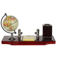 Настольный набор (глобус, карандашница, блокнот, держатель для визиток)