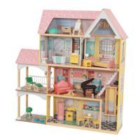 """Кукольный дом """"Особняк Лола"""" с мебелью, 30 элементов, интерактивный"""