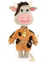 """Набор для создания текстильной игрушки из льна и хлопка """"Бычок Смоляной бочок"""", 17,5 см, арт. ПЛДК-1459"""