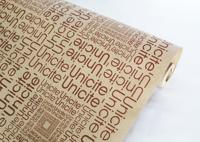 "Крафт-бумага ""Буквы коричневые"", на коричневом фоне, 0,7x8,5 м"