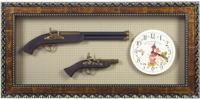 """Панно """"Оружие с часами"""", 115x8x39 см"""