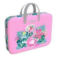 """Папка текстильная на молнии с ручками """"Rose Flamingo"""", A4+"""