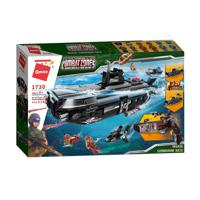 """Конструктор QMAN """"Боевая зона. Подводная лодка-акула"""", 1196 деталей"""