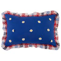 "Декоративная подушка ""Индиго"", цвет: синий, клетка, 40х60 см"