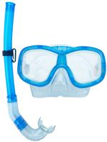 Маска и трубка для плавания, S1 (голубая)