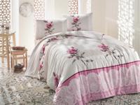 """Комплект постельного белья """"Ranforce. Almila"""", бежевый (1,5-спальный)"""