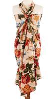 """Парео с мешочком """"Цветы"""", цвет: бежевый, 120х180 см"""