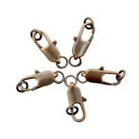 """Набор замков для бус """"Карабин"""", с кольцами, 15 мм, 5 штук, цвет: медь (арт. 4AR238)"""