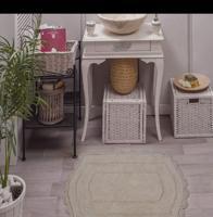 """Набор ковриков для ванной комнаты """"Bella"""", 2 штуки, 50х70 см и 60х100 см, цвет крем"""