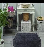 """Набор ковриков для ванной комнаты """"Bella"""", 2 штуки, 50х70 см и 60х100 см, цвет темно-фиолетовый"""