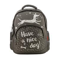 """Рюкзак с эргономичной спинкой """"Счастливая собака"""", цвет темно-серый"""